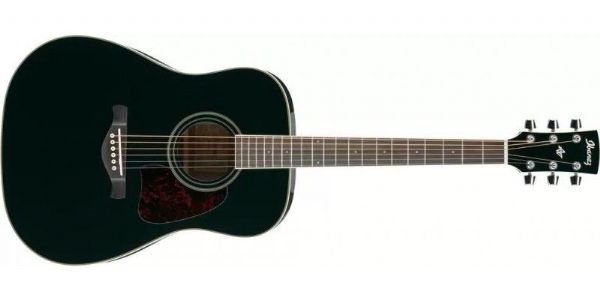 Ibanez AW70-BK Artwood Acoustic Guitar, Solid Top - Black